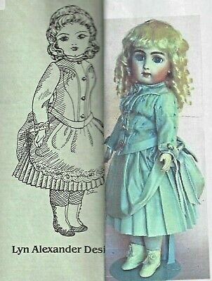 "10-11/"" Antique French Doll BLEUETTE 1906 Sailor Suit Pattern Repro German"