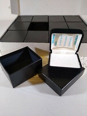 Jewelry Resale Boxes Black Velvet Earring/Tie-Tac Boxes (12) Count New