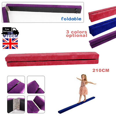 2.4M Portable Gymnastics Folding Balance Beam 8FT Home Training Fast Delivery