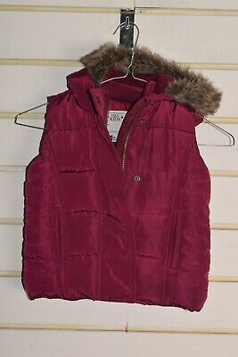 Marks and Spencer Girls Kids Gilet Bodywarmer - Red - Size Age 1 1/2 -2 (RefC3)