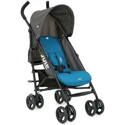 Joie Nitro Blue Stroller/Buggy With Raincover And Fast Free Delivery