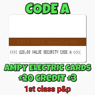 Ampy Electric Meter Cards £20 Value For £1.50 - Code A