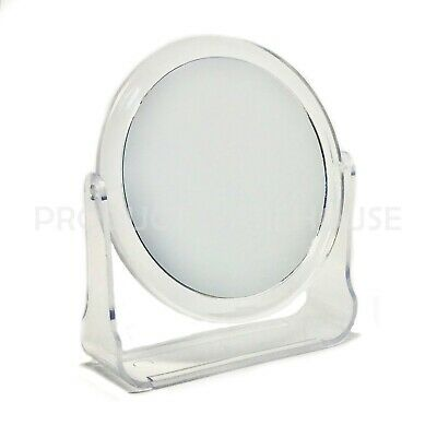 """4.5"""" Cosmetic Two Sided Mirror Small Travel Magnify Make Up Shaving Bathroom"""
