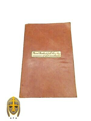 Maritime pay book for Sir Admiral Charles Thompson, signed by John Scott