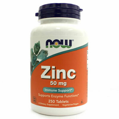Now Foods ZINC 50mg IMMUNE SUPPORT 250 tablets (Family Size) FAST SHIPPING