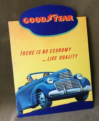 Vintage Goodyear Tires Advertising Sign 1940