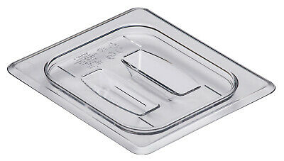 Camwear Food Pan Cover, 1/6 size, Polycarbonate Clear Plastic NSF, Cambro 60CWCH