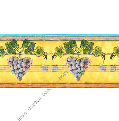 GRAPES Rustic Tuscan Old World VINEYARD THEME Grapevine Winery WALL PAPER BORDER
