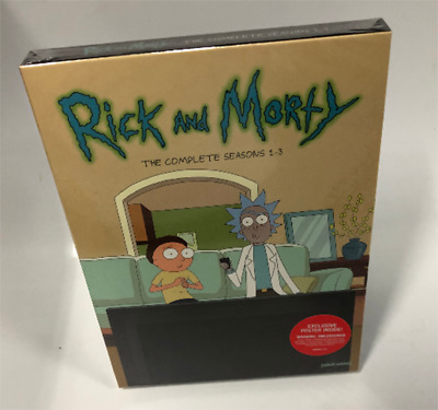 Rick And Morty: Complete Season 1-3 (DVD, 6-Disc Set) New & Sealed Fast Shipping