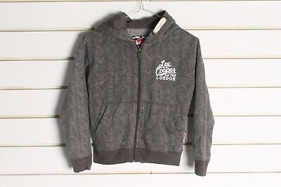 Lee Cooper Boys Kids Hoodie - Grey - Size Age 7-8 Years (cc2)