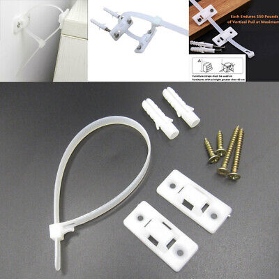 12 sets Anti Tip Furniture Safety Wall Straps Baby Child Kids Proofing Pack
