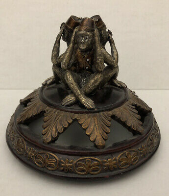 Hear No, Speak No, See No Evil Monkeys Table Top /Candle Top Decoration