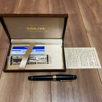 Sailor Fountain Pen Professional Gear Micarta Black 21K M