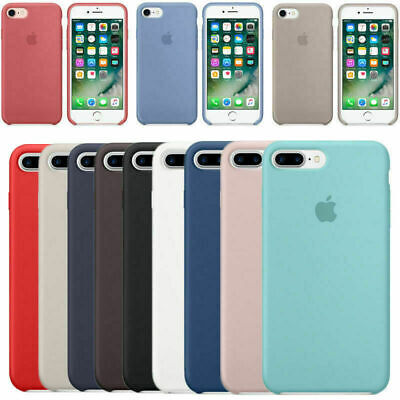 Original Silicona Genuina Case Funda Para Apple iPhone X XS Max 7 8+ 6S Plus