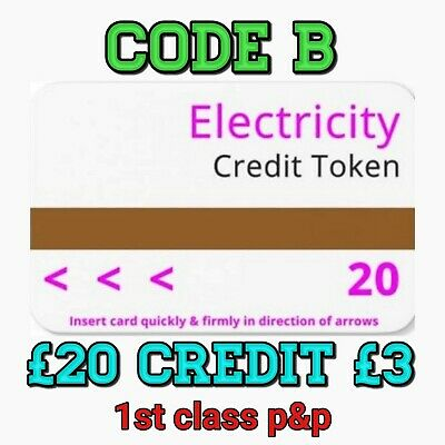 Ampy Electric Meter Cards £20 Value For £3 Code B