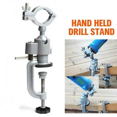 Silver Bench Clamp Electric Drill Stand Mini Accessories Manual Rotating Tool L