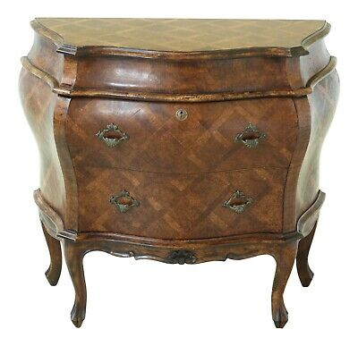 49146EC: Italian Marquetry Inlaid Commode Accent Chest