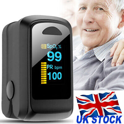 Finger Pulse Oximeter Oxygen Saturation Meter SpO2 PR Fingertip Blood Monitor
