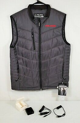 Polaris Rechargeable Heated Snowmobile Vest Gray Size Men's Large New
