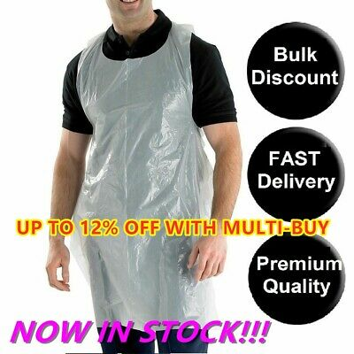 100/500PCs Waterproof Disposable Plastic High Density Polythene Apron Protection