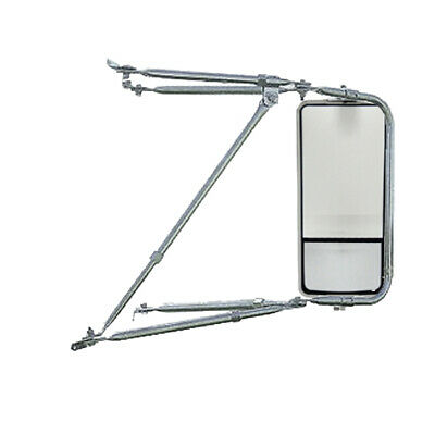 Adjustable Chrome Mounting Assembly West Coast Heated Mirror w/ Convex