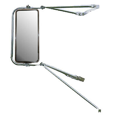 Deluxe Chrome Mounting Assembly Stainless Steel West Coast Mirror- Left