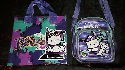 Vintage SANRIO Pochacco SPLASH PATROL 1998 Beach Bag Vinyl Tote Summer Purse Lot