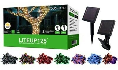 NEW 125LED Solar Powered String Lights  Multiple Colors   Quantities Available