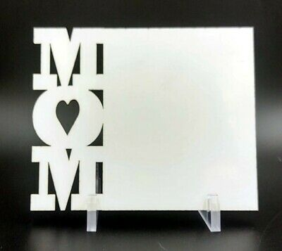 """Sublimation Blank White Hardboard (3 Pack) with Stands - """"MOM"""" Style 2"""
