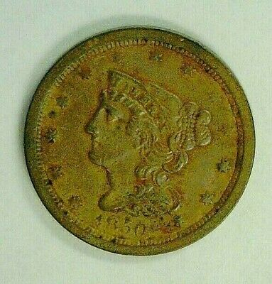 1850 Braided Hair Half Cent Xf     (9243)