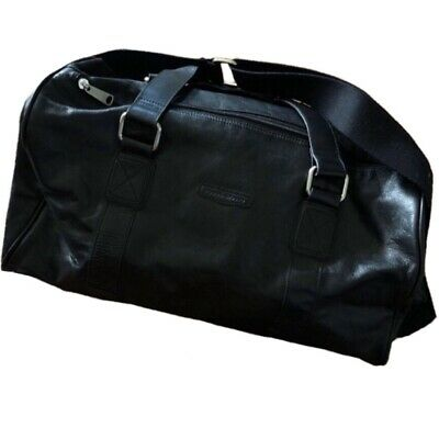 Fossil Black Leather Duffle Bag