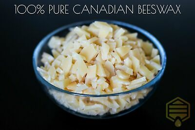 100% Natural Canadian Beeswax Pebbles - Cosmetic Grade, Filtered to 40 microns!