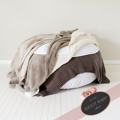 PU or Post 2136 WHITE 90x45cm NEW Newborn Posing BeanBag for Baby Photography