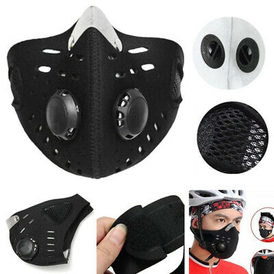 Anti-saliva Face Cover Respirator Pad Dust Protector W/ Filter Washable Reusable