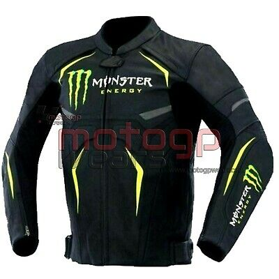 Monster Energy Street Motorcycle Racing Leather Jacket All Sizes Available