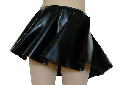 Rubber Skirt Circle Skating Black Mini Pure Latex Flared M / L Roleplay Short
