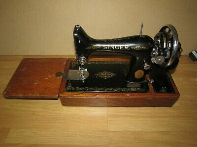Vintage Singer Sewing Machine 99k 1940 with Hard Case.