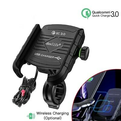 PHONE HOLDER MOBILE With Usb Charger Stand Bracket Mount