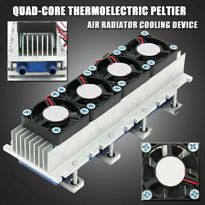 4 Chip TEC1-12706 Thermoelectric Peltier Air Radiator Refrigeration Cooler S6