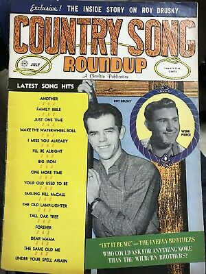 Vintage Country Song Roundup Magazine Vol. 12 No. 67 1960 July