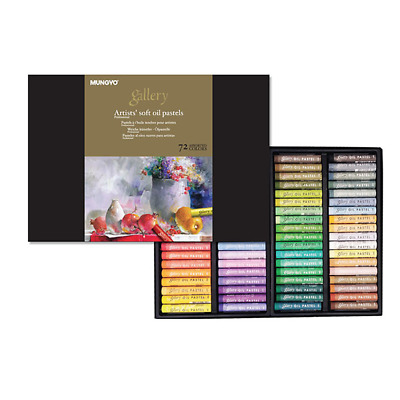 [Mungyo] MOPV-72 Soft Oil Pastels Paper Box Set of 72 - Assorted Colors