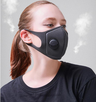 Adult Face Covering Mouth Nose Protection Washable Reusable Black Breathable UK