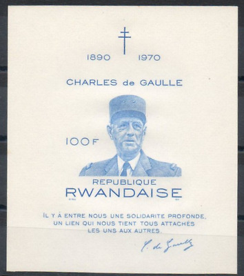 Rwanda - BL23 - Non Dentelé - Imperforated - Général de Gaulle - 1971 - MNH