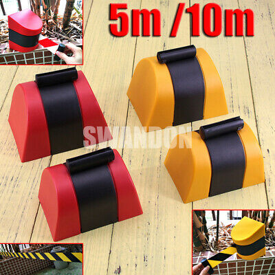 NEW Retractable Barrier Tape Safety Warehouse Workshop Crowd Control Wall Mount