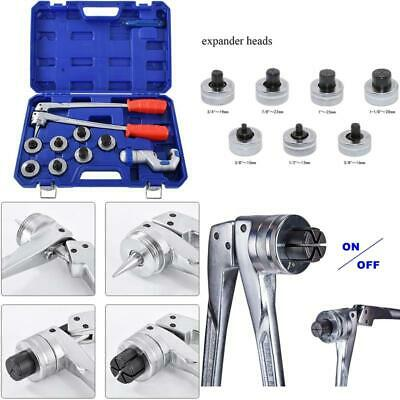 "Hydraulic Tube Expander Tool Set with 7 Expander Heads 3/8"", 1/2"", 5/8"