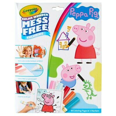 Crayola Colour Wonder Peppa Pig Mess Free Colouring Kids Toddler Activity Toy