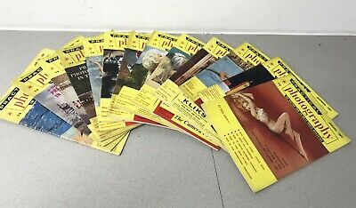 12 Vintage issues of Practical Photography Magazine Jan 1961 -  Jan 1962