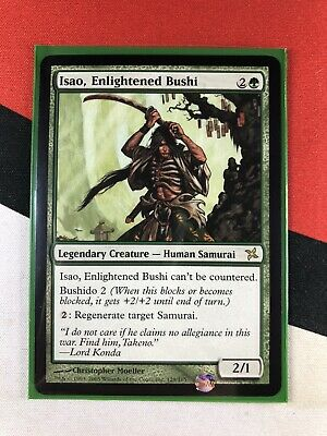 Isao Enlightened Bushi Foil Near Mint MTG Betrayers of Kamigawa Magic K5K