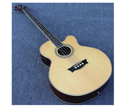 Electric Acoustic Bass guitar 24 frets 4 5 String Natural