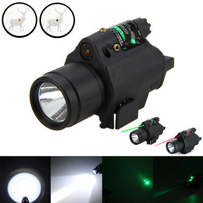 Tactical Red/Green Dot Laser Sight LED Flashlight Combo with 20mm Picatinny Rail